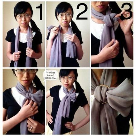 half bow - tie a scarf