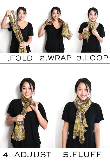 tie a slip knot scarf