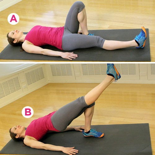 Leg Bridges Exercise