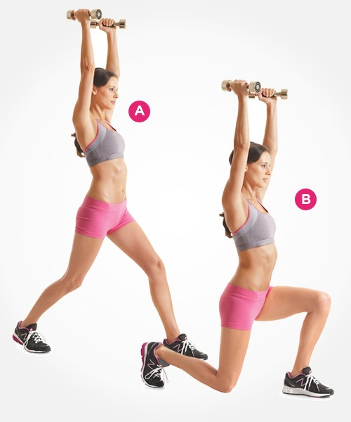 Split Squat - Ab Exercises for Women