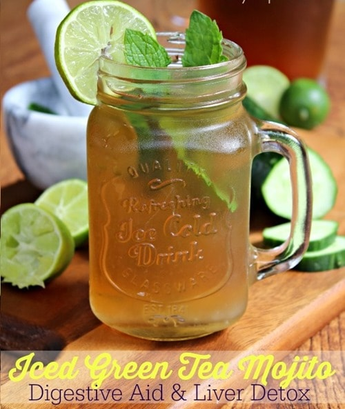 13. Iced Green Tea Mojito Detox Drink
