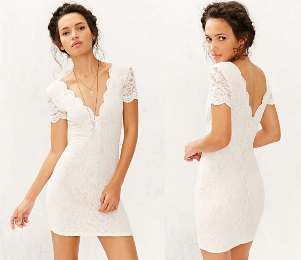 White Cocktail Dress for Women