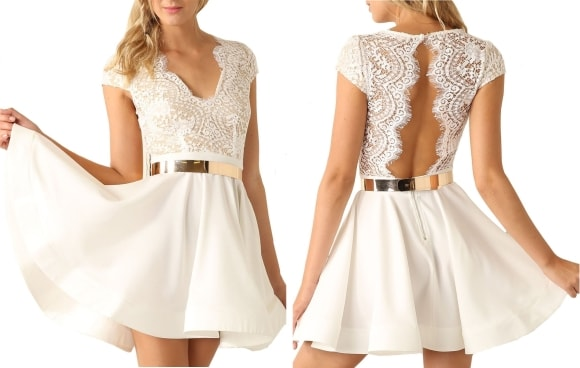 White Cocktail Dresses for Women Amazon