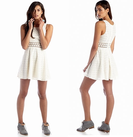 White short Party Dress