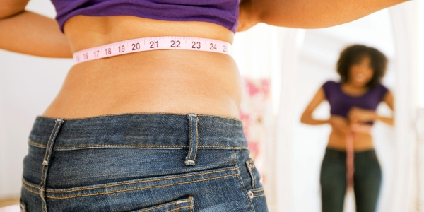 Measure your stomach fat and love handles