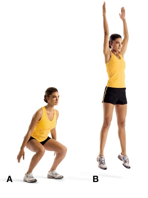 Squat Jumps  abs workout