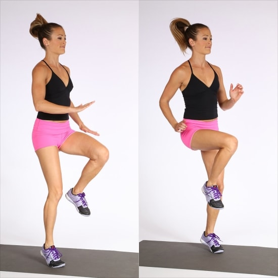 Step hop exercise