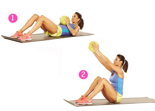 sit ups with medicine ball workout