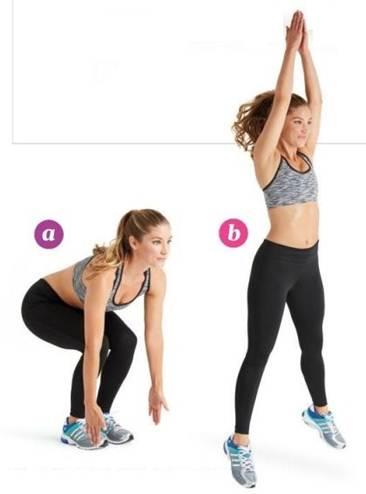 squat clap jumps