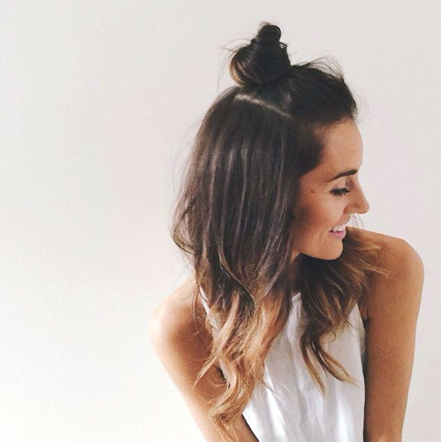 6 Trendy Half-Up-Half-Down Bun Hairstyles For All