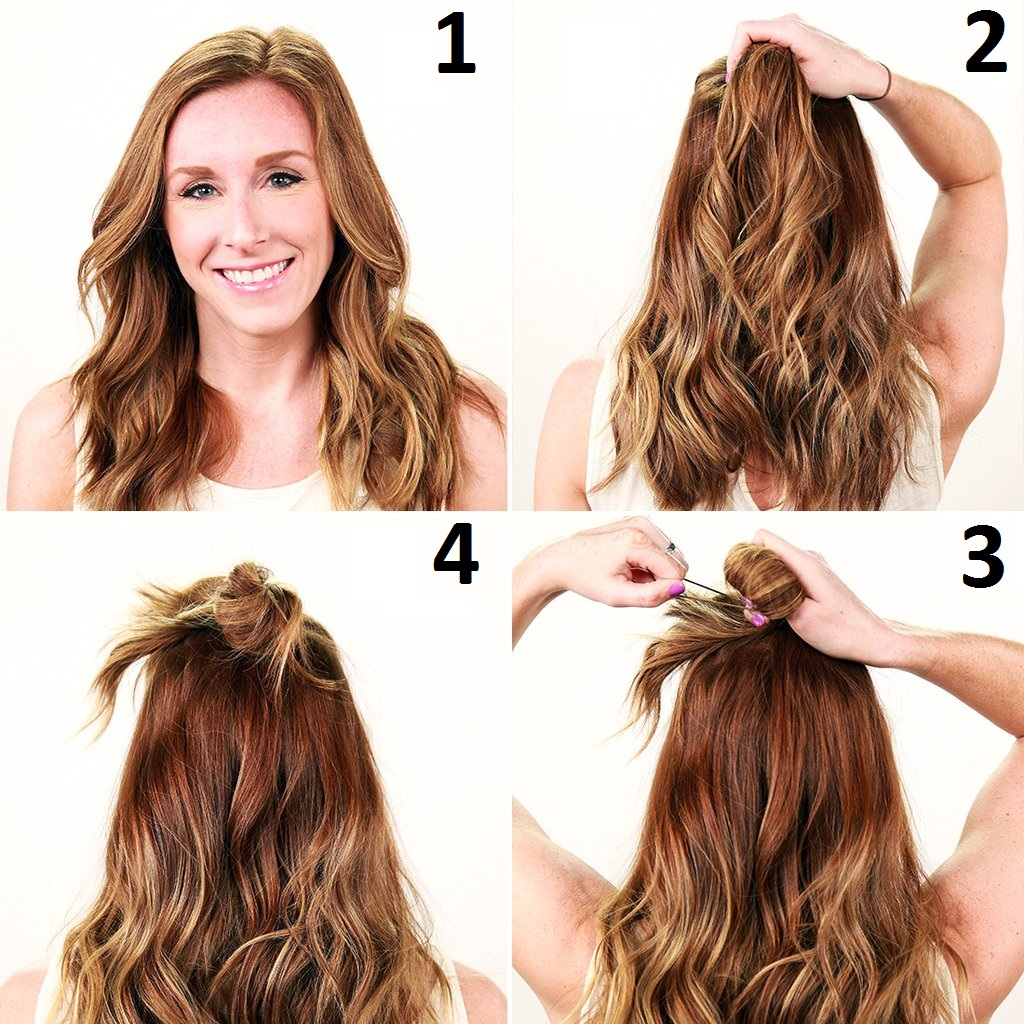 6 Trendy Half Up Half Down Bun Hairstyles For All Occasions