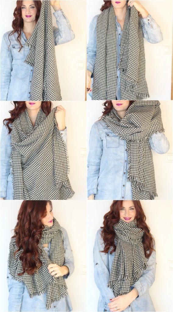 how to wear a scarf women