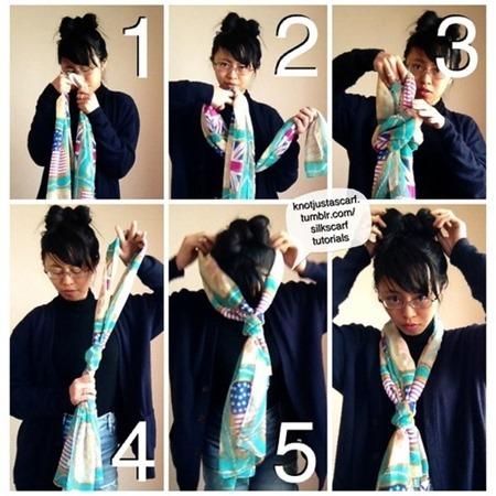 Braid Scarf knot