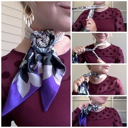 Palm Neck a way to tie scarfs