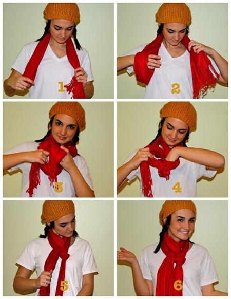 braid style to tie scarf