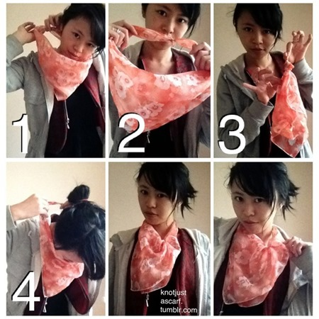 knot - tie a scarf