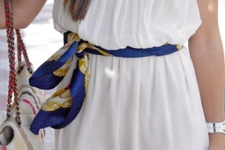 scarf belt - simple way to tie a scarf