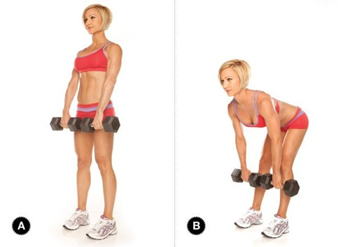 leg dumbbell-deadlift - Ab Exercises for Women
