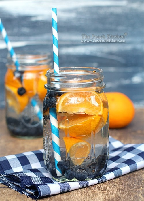 Blueberry-and-Orange-Water for detoxification