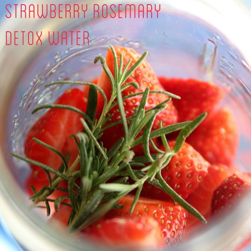 Strawberry Rosemary Detox Water