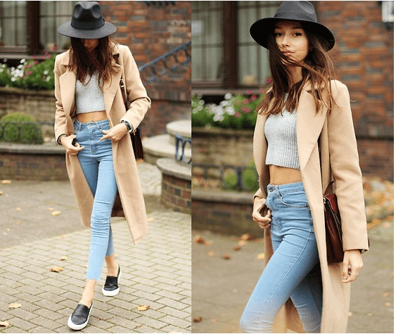 Crop Top Outfit Idea for Winter