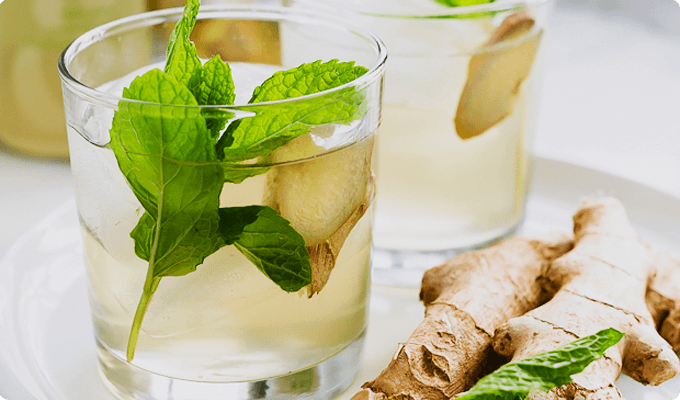 Ginger Peppermint Syrup for Cough