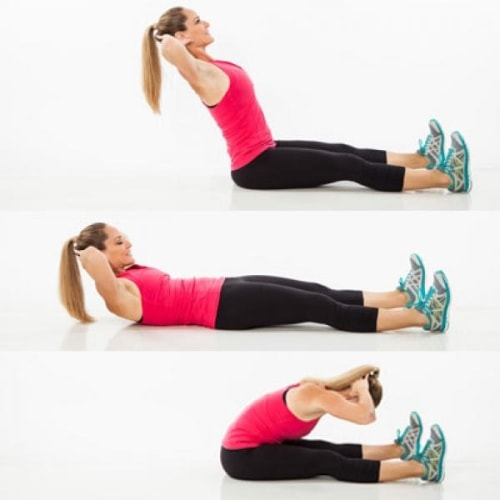 Roll up exercise for abs